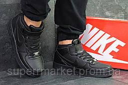 Кроссовки  Nike Air Force черные. Код 6375, фото 2
