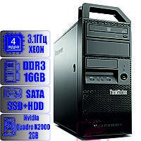 Рабочая станция Lenovo E32 - Xeon E3-1220 v3 (4-ядра)/16GB-DDR3-ECC /SSD-120/HDD-1TB/Quadro k2000