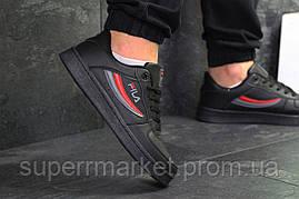 Кроссовки Fila черные, код6378, фото 2