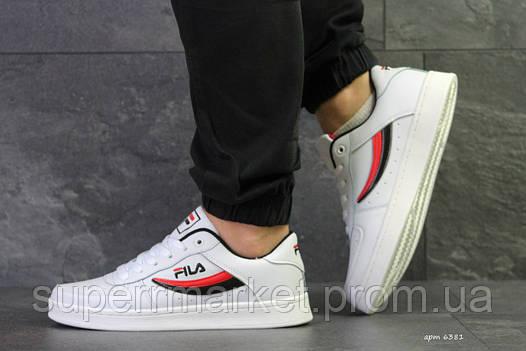 Кроссовки Fila белые, код6381, фото 2