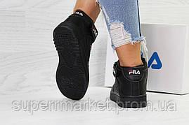 Кроссовки в стиле Fila черные, код6385, фото 2