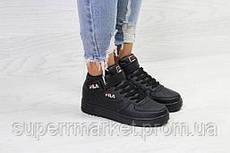 Кроссовки в стиле Fila черные, код6385, фото 3