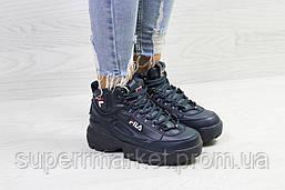 Кроссовки в стиле Fila синие, код6389, фото 2