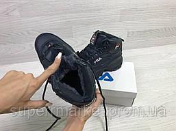 Кроссовки в стиле Fila синие, код6389, фото 3