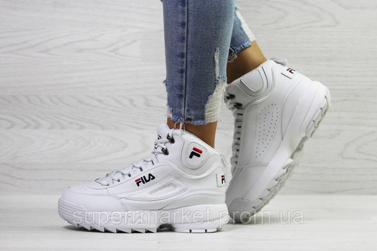 Кроссовки в стиле Fila белые, код6391