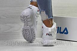 Кроссовки в стиле Fila белые, код6391, фото 2