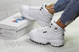 Кроссовки в стиле Fila белые, код6391, фото 3