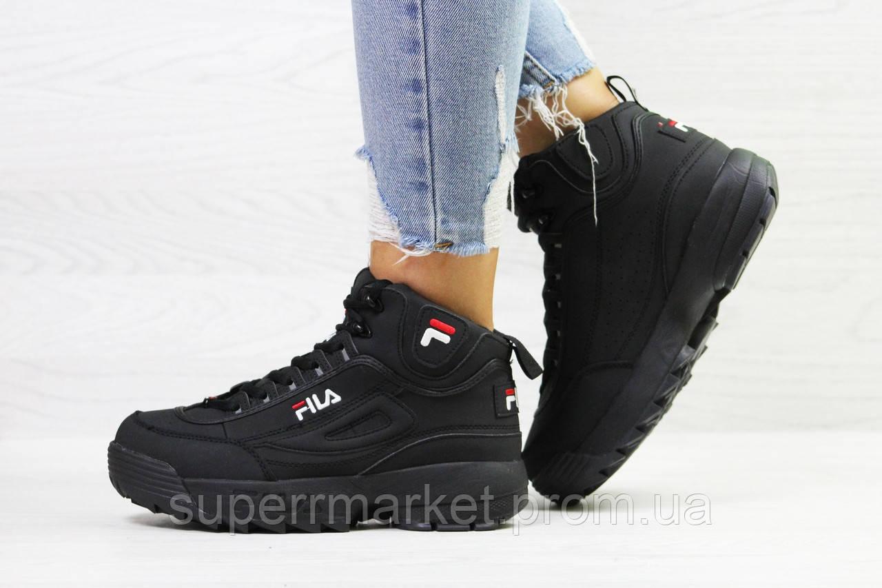 Кроссовки Fila черные. Код 6392