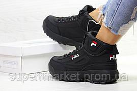 Кроссовки Fila черные. Код 6392, фото 2