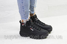 Кроссовки Fila черные. Код 6392, фото 3