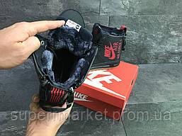 Кроссовки Nike Air Force темно-синие, код6397, фото 2