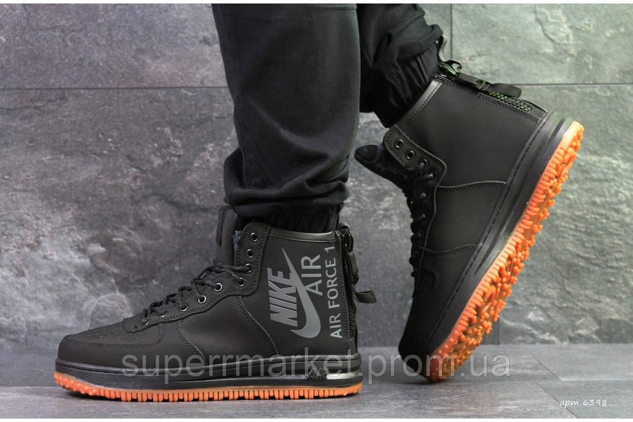 Кроссовки Nike Air Force черные, код6398