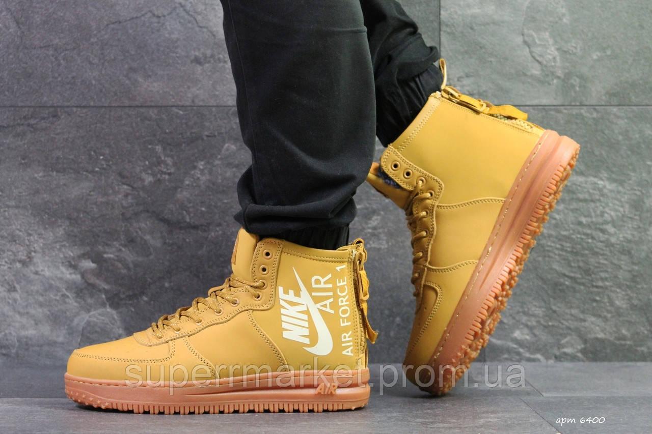Кроссовки Nike Air Force горчичные, код6400