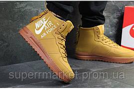 Кроссовки Nike Air Force горчичные, код6400, фото 3