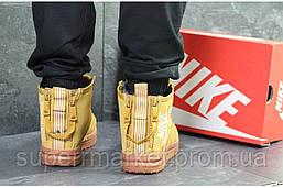 Кроссовки Nike Air Force горчичные, код6400, фото 2