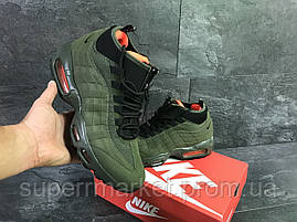 Кроссовки Nike Air Max 95 Sneakerboot зеленые. Код 6285, фото 3