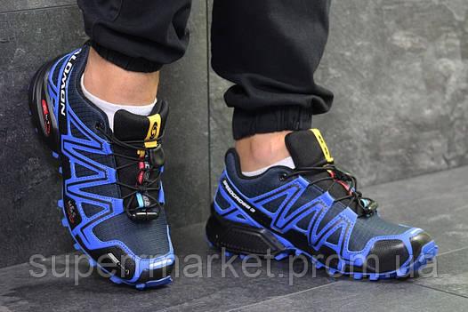 Кроссовки Salomon Speedcross 3 синие, код6303, фото 2