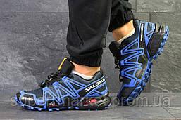 Кроссовки Salomon Speedcross 3 синие, код6303, фото 3