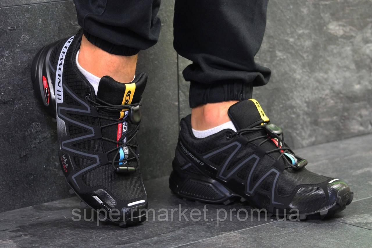 Кроссовки Salomon Speedcross 3 черные, код6305