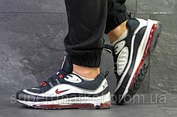 Кроссовки Nike Air Max 97 синие с белым. Код 6311, фото 3