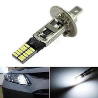 Лампа LED 12V H1 24SMD 4014 драйвер белый 420Lm