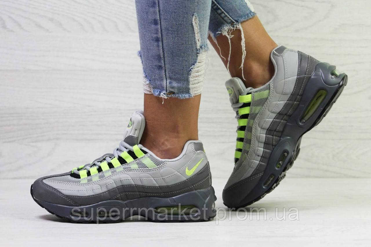 Кроссовки в стиле Nike Air Max 95 серые, код6320