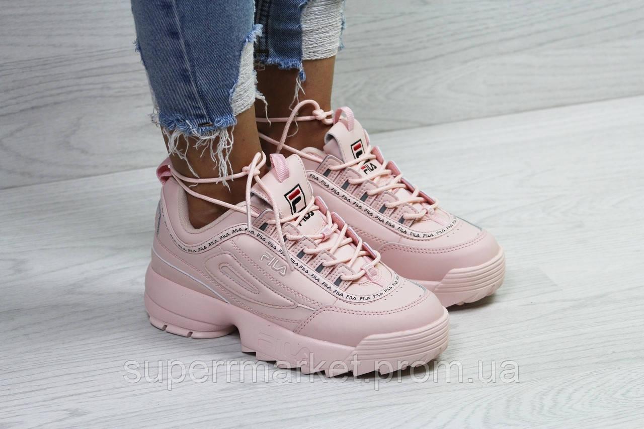 Кроссовки Fila розовые. Код 6321