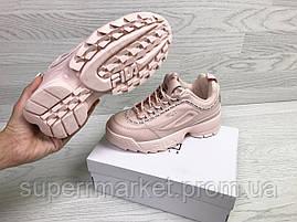 Кроссовки Fila розовые. Код 6321, фото 2