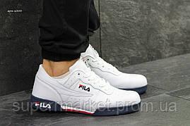 Кроссовки Fila белые с синим, код6333, фото 2