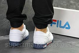 Кроссовки Fila белые с синим, код6333, фото 3
