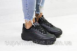 Кроссовки в стиле Fila черные, код6335, фото 2