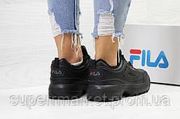 Кроссовки в стиле Fila черные, код6335, фото 3