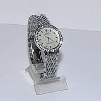 Женские часы Ролекс ( Rolex ) серебро плетеный ремень стразы