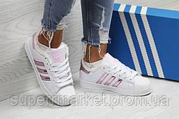 Кроссовки в стиле Adidas белые с розовым, код6358, фото 3