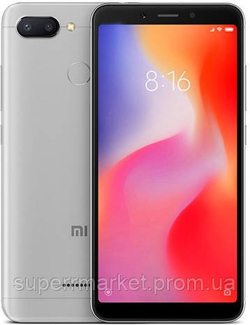 Смартфон Xiaomi Redmi 6 32Gb Grey Global Version, фото 2