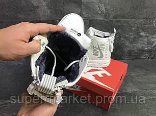 Кроссовки в стиле Nike Air Force белые (зима). Код 6408, фото 3