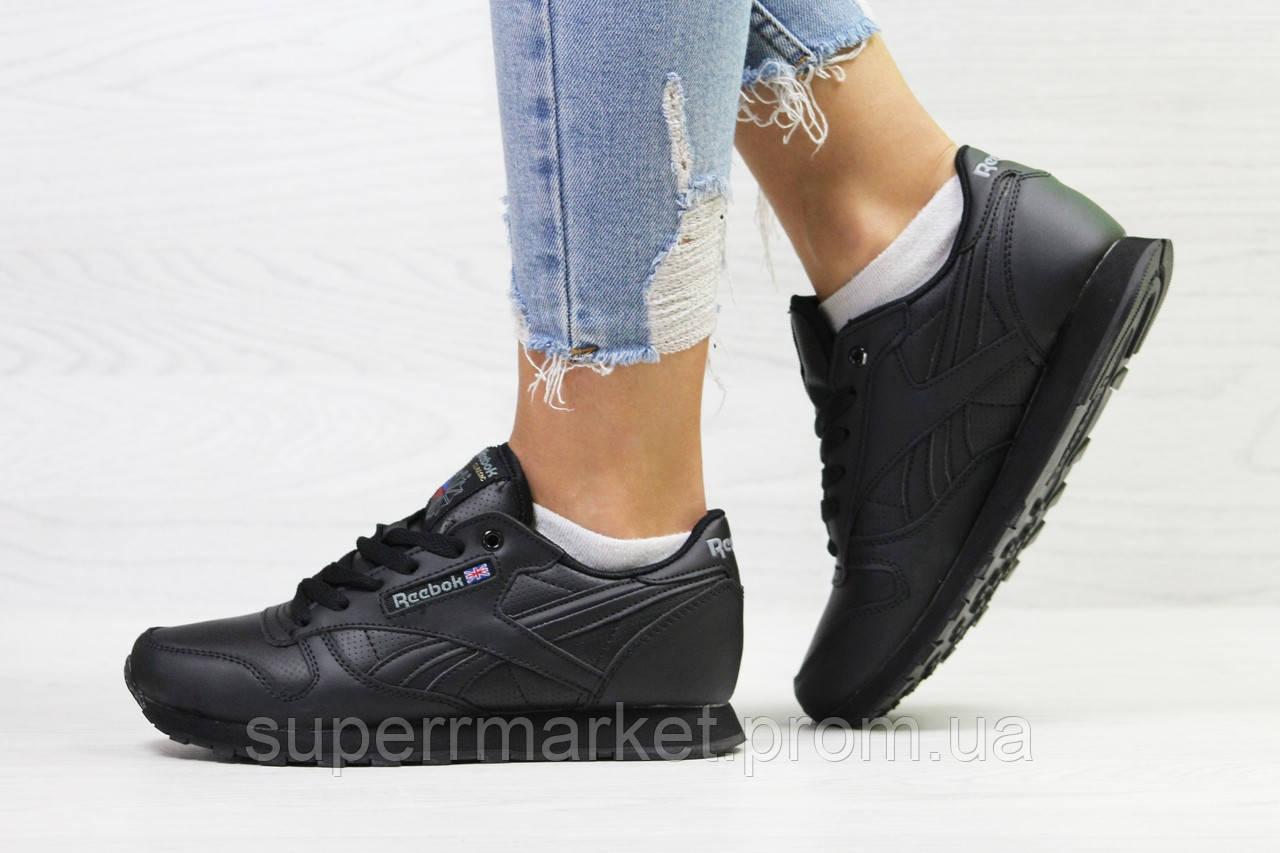Кроссовки в стиле Reebok черные, код6421