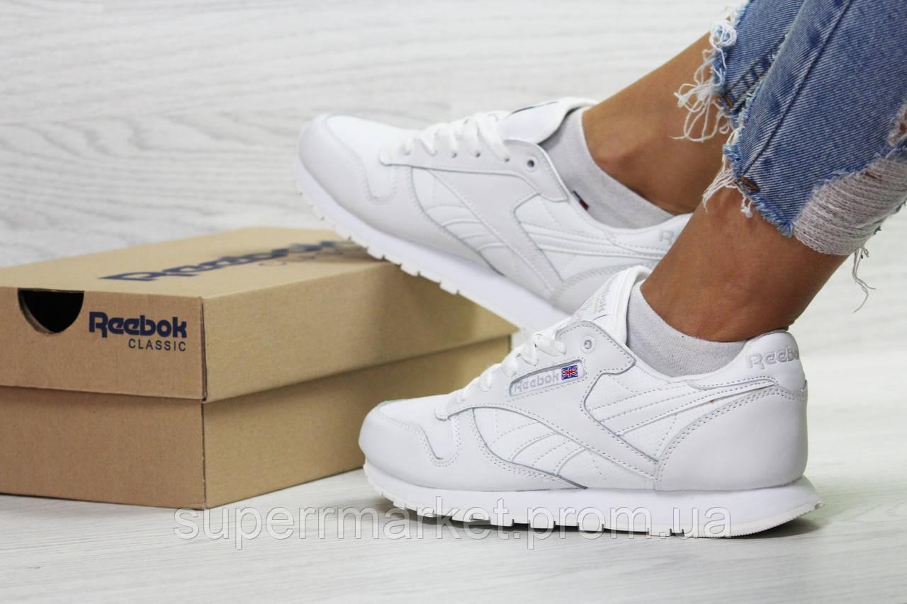 Кроссовки Reebok белые. Код 6422