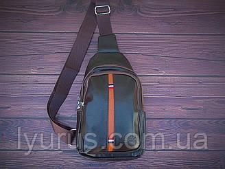 Сумка-рюкзак на одне плече, кобура, слінг Jeep. Коричнева