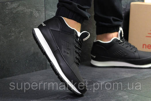 Кроссовки New Balance черные с белым  зима , код6433, фото 2