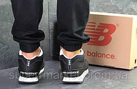 Кроссовки New Balance черные с белым  зима , код6433, фото 3
