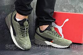 Кроссовки Puma темно-зеленые (зима). Код 6434, фото 3