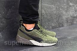 Кроссовки Puma темно-зеленые (зима). Код 6434, фото 2