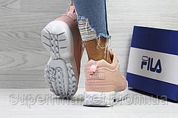 Кроссовки Fila розовые (зима). Код 6439, фото 2