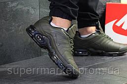 Кроссовки Air Max Tn темно-зеленые (зима) . Код 6462, фото 2