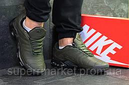 Кроссовки Air Max Tn темно-зеленые (зима) . Код 6462, фото 3