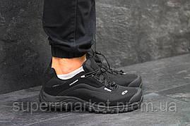Кроссовки Salomon, черные с белым, термо, код6468, фото 2