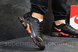Кроссовки Air Max Tn черные с оранжевым  зима , код6475, фото 2