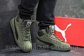 Кроссовки Puma Suede зеленые  зима , код6479, фото 2
