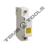 Модульная сигнальная лампа ЛСН желтая на DIN-рейку